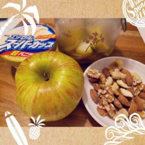 焼きリンゴとアイスのはちみつレモンがけ