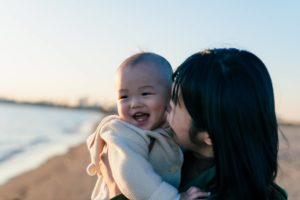 ママと子供の写真