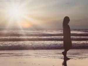 晴れの日の海辺